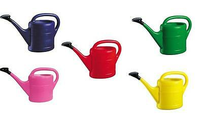 5L Red Blue Green Pink Yellow Garden Gardening Watering Water Can Green Wash