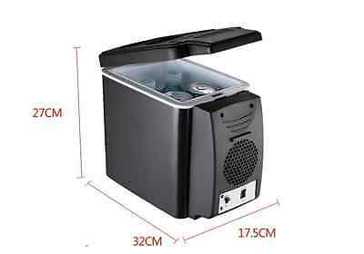 Car Small Refrigerator 12V Mini Fridge Cooler/Warmer 6L Black
