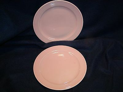 Luray salad plates    2-   pink   2- blue    1- yellow