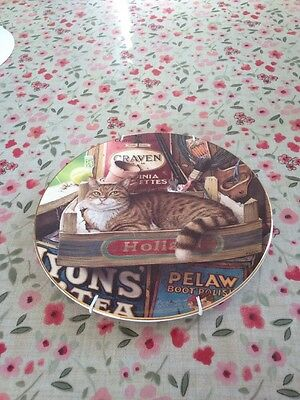 """Royal Doulton """"The Potting Shed Cat"""", Geoffrey Tristram, Csts In Character Plate"""