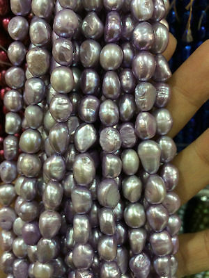 """8-9MM Purple Baroque natural pearls loose beads 15 """""""