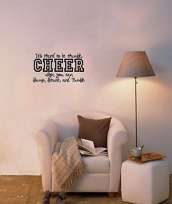 Its Hard To Be Humble Cheer Jump Vinyl Decal Wall Quote Inspiration Stickers