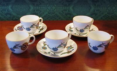 Royal Worcester PALMYRA Bride of the Desert 5 Cups and 3 Saucers