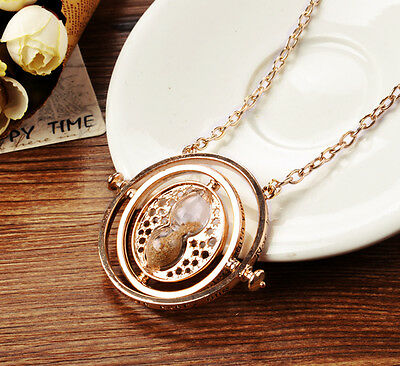 18K Plated Harry Potter Hermione Time Turner Necklace Pendant Fashion Jewelry