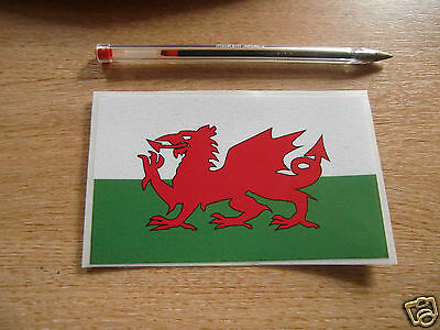 WELSH FLAG -  STICKER/DECAL  125mm x 78mm - WELSH DRAGON