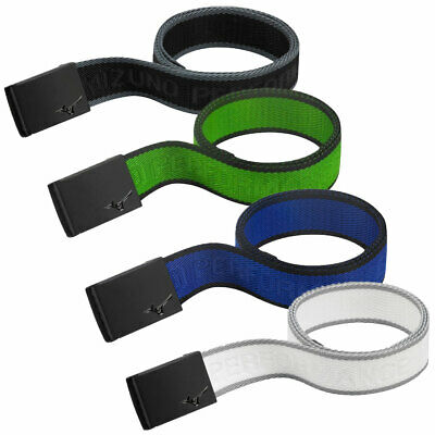 45% OFF RRP Mizuno Golf Unisex Nylon Webbing Belt - One Size - MRB Metal Buckle