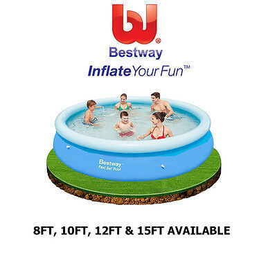 Bestway Fast Set Swimming Paddling Pools 8Ft To 15Ft Family Garden Fun Outdoor