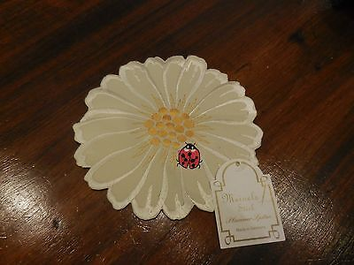 Embroidered Decorative Table Linens From Germany Ladybug & Daisy Pattern