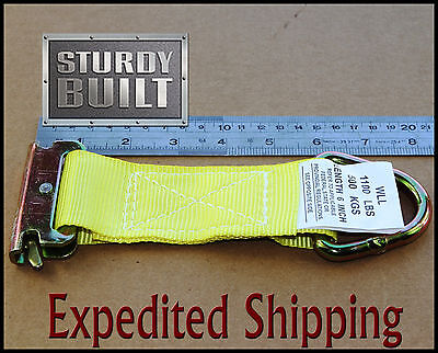 10x E Track Tie Off Rope Cargo Down Straps D Ring Fitting Enclosed Trailer Van