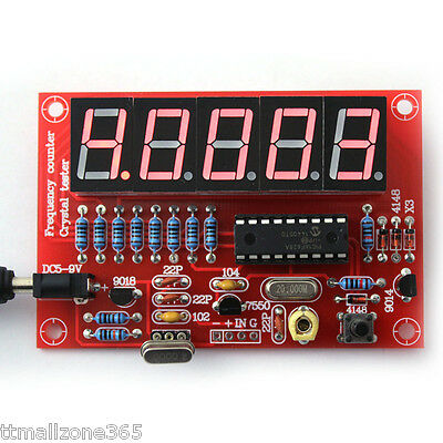 Frequency Counter Meter 1Hz-50MHz for Crystal Oscillator Digital LED DIY Kits