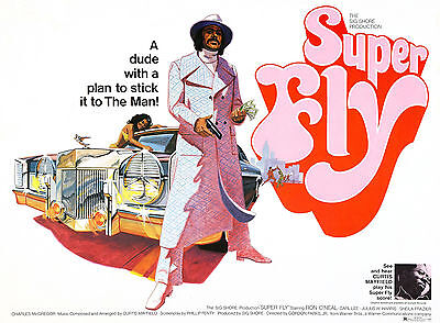 """SUPER-FLY"" Ron O'Neal Curtis Mayfield Classic Movie Poster Various Sizes"