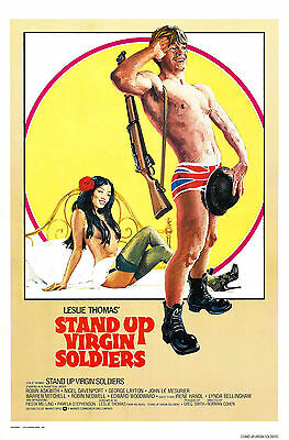 """""""STAND UP VIRGIN SOLDIERS"""" Robin Askwith Vintage Movie Poster A1A2A3A4Size"""