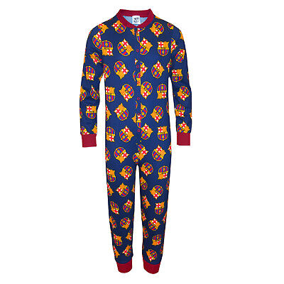 FC Barcelona Official Football Gift Boys Kids Pyjama All-In-One