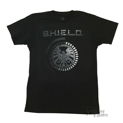 Avengers Age Of Ultron Shield Logo Marvel Comics Licensed Adult T Shirt