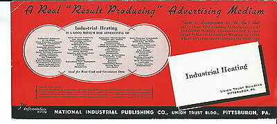 J-232 - Industrial Heating Magazine Real 1920's-1950s Advertising Ink Blotter