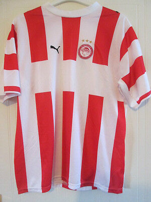 Olympiacos Olympiakos 2006-2007 Home Football Shirt Size Adult Large /35584