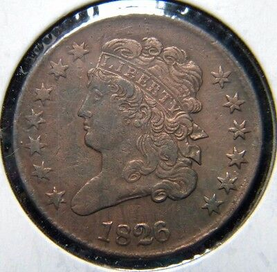 1826 Classic Head Half Cent***extremely Fine Condition             Ei