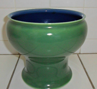 Rookwood Antique 1917 Pottery Vase Bowl 2298.D Green Blue Beautiful