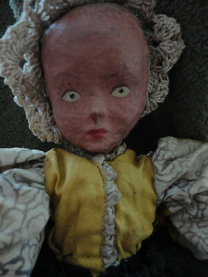 Papier Mache Doll Hand Made One of a Kind Vintage Antique