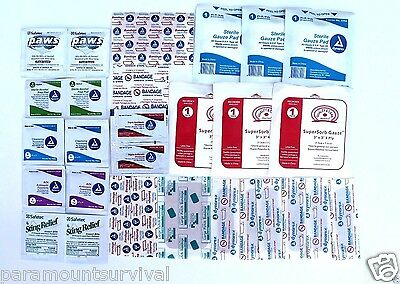 30 Piece First Aid Kit Refill Gauze Bandages Sting Relief Antiseptics and More