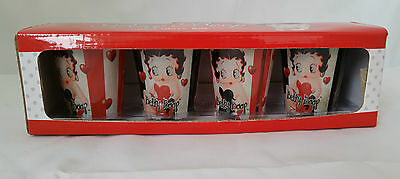 Betty Boop Candy Stripe 4 Pack Shot Glass Set