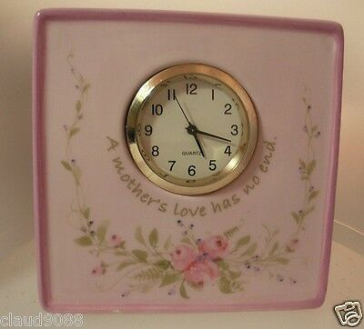 """Demdaco """"time For You A Mother's Love """"  73012 Table Clock  New Boxed Sm Chip"""