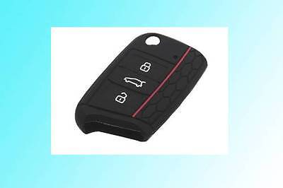 Honeycomb Style Red Line Silicone Protection Case For VW Golf MK7 Remote Key