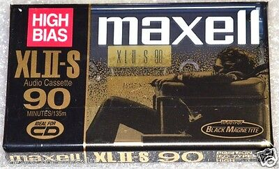 MAXELL XLII-S 90 SEALED HIGH BIAS BLANK NEW AUDIO COMPACT CASSETTE MEDIA TAPE