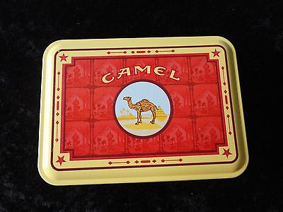 Red and Gold Camel Cigarette Tin with Four Unused Lighters!