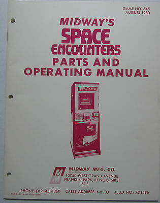 1980 Midway Space Encounters Parts and Operating Manual