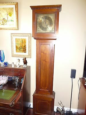 18Th Century English Grandfather Clock Movement And Long Case