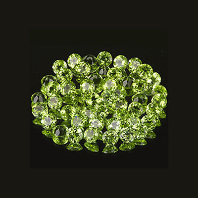 2mm 50pc Matched Lot Round Cut Accent Stone Natural Green PERIDOT