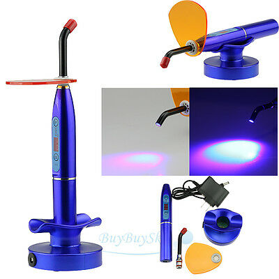 New Rechargeable Dental LED Curing Light Lamp Curing Unit  5W  2000mw USA Blue