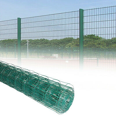 1.2M Green PVC Coated Steel Mesh Fencing Wire Garden Galvanised Fence Border NEW