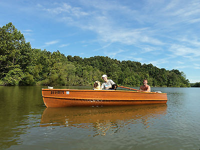 1973 Giesler French River Cedar Strip Canadian Guide Boat with 9.5 Johnson Motor