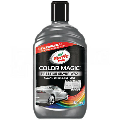 Turtlewax Color Magic Polish Masks Fine Scratches Remover Chips Silver 500ml