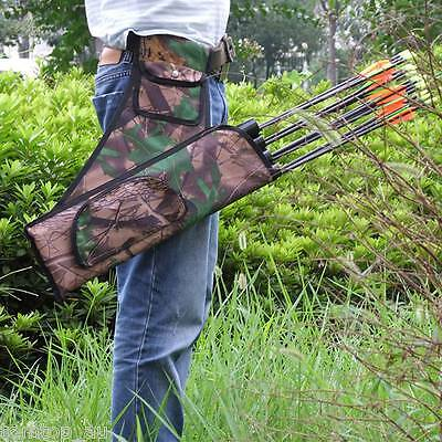 Waist Belt Arrows Holder Arrow Quiver Bag Hunting Archery with 4 Tubes NEW TYPE