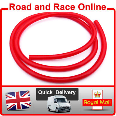 Motorcycle Carb Breather / Overflow / Petrol Pipe 5mm I/D x 8mm O/D 1m Long Red