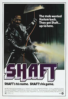"""SHAFT"" Richard Roundtree music by Issac Hayes Classic Movie Poster A1A2A3A4Size"