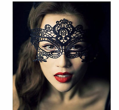 black sexy elegant mask of Venice clothing in a Halloween party