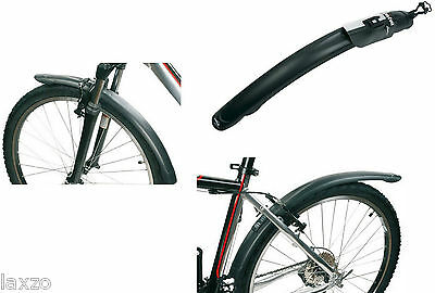 Zefal Classic 24/26 Mountain Bike Bicycle Mudguard Set Black Front And Rear 305g