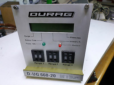 Used Durag D-UG 660-20 Self-monitoring and Fail-safe Control Unit