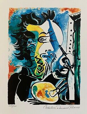 Pablo Picasso TURKISH SHAWL Estate Signed /& Numbered Small Giclee Art