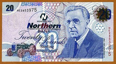 Ireland Northern Bank, 20 pounds, 2005, P-207a, UNC