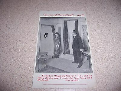 1910s PRINCESS THEATRE CHICAGO G. BROADHURST PLAY ANTIQUE ADVERTISING POSTCARD