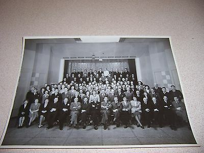 1940s PHILIPS TELEVISION BELGIUM EXECUTIVES GROUP PHOTO ORIGINAL 7X9