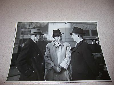 1930s PHILIPS TELEVISION CARAVAN EXECUTIVES & ENGINEER STOCKHOLM SWEDEN PHOTO
