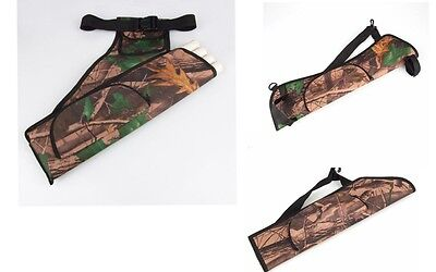 Camo Sportsman Outdoor Archery Bow Arrow Holder Belt Quiver with Belt 3 Styles