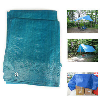 Tarpaulin UV Treated Blue Cover Sheet Camping Blue Shelter Tear-Free Strong Tarp