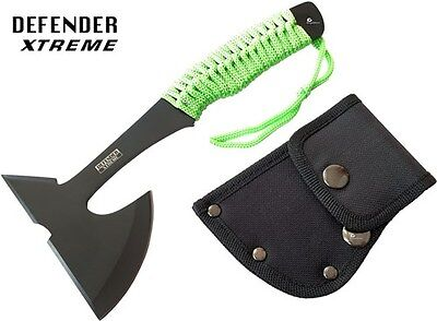"""9"""" ZOMBIE SURVIVAL TOMAHAWK THROWING AXE BATTLE Hatchet knife hunting FULL TANG"""